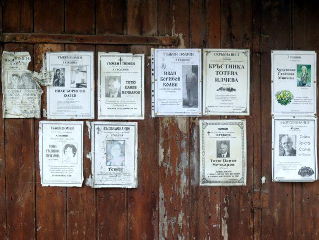El tratamiento de la muerte en Bulgaria
