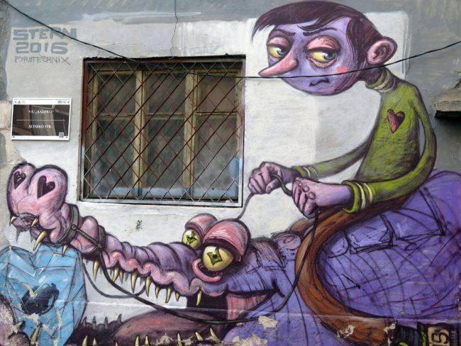 Street ARt en la ciudad de Plovdiv