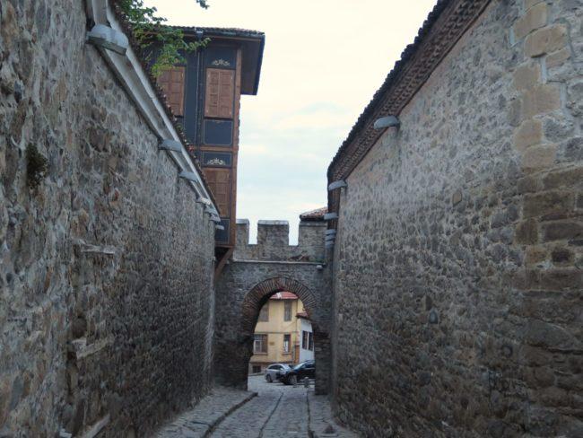 Antiguo acceso a la parte amurallada del primer asentamiento de Plovdiv