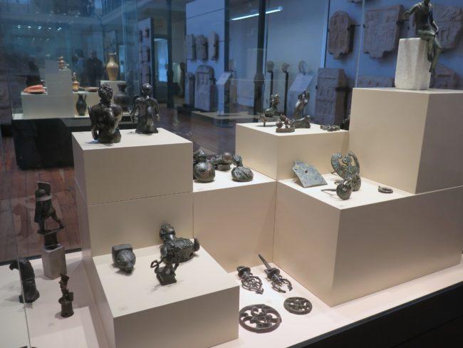 Exposición de objetos romanos en Bulgaria