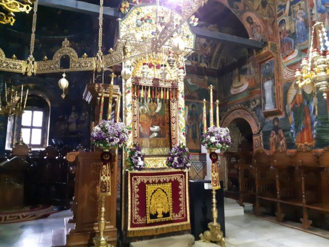 Icono Milagroso de la Virgen en el Monasterio de Troyan