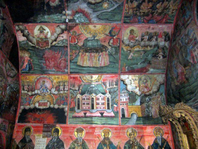 Impresionantes murales de Zahari Zograf en el Monasterio de Preobrazhenski