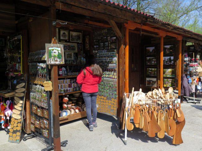 Tiendas de souvenirs en los Monasterios de Bulgaria