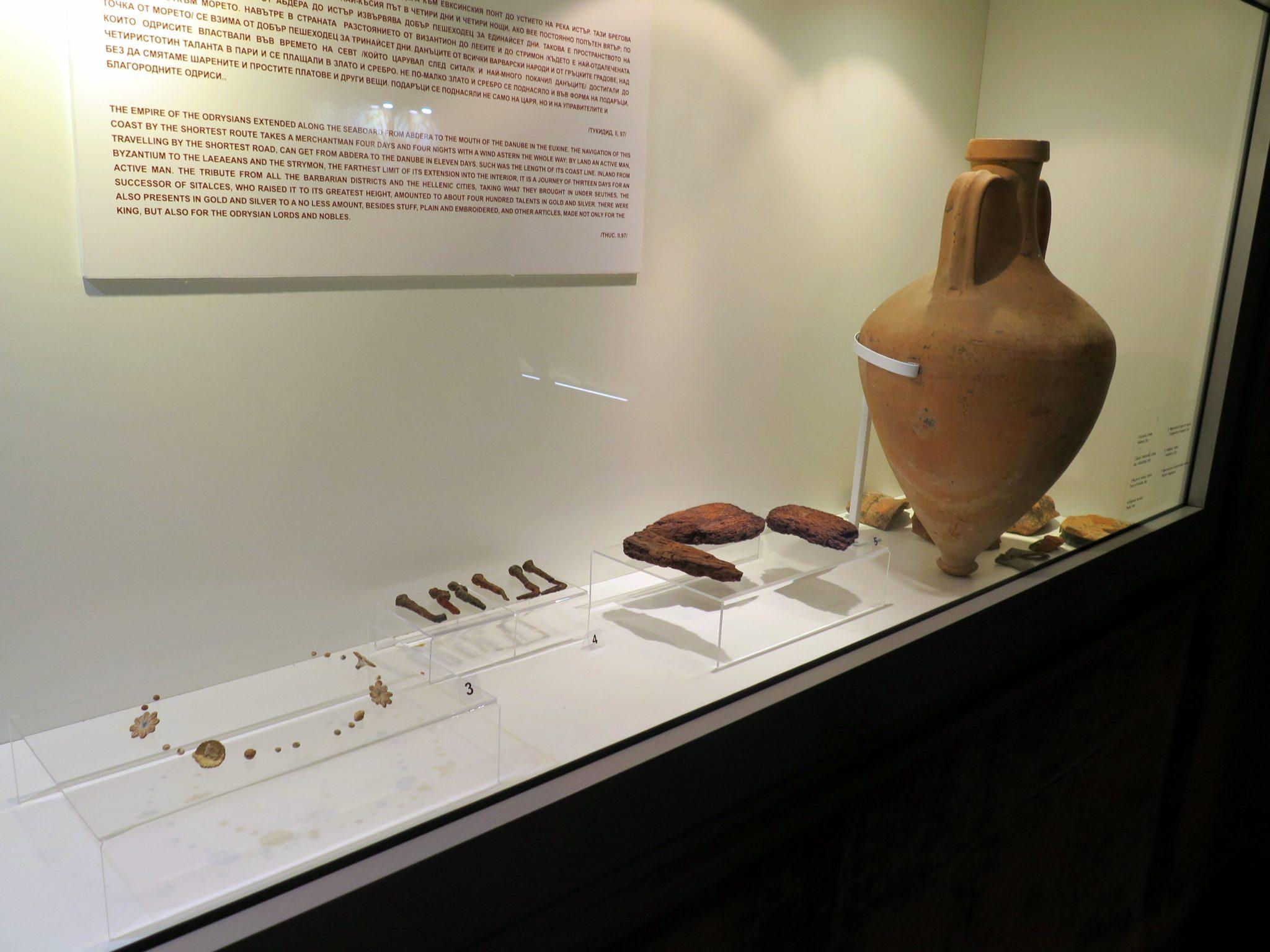 Pequeña exposición en la Tumba Tracia de Kazanlak