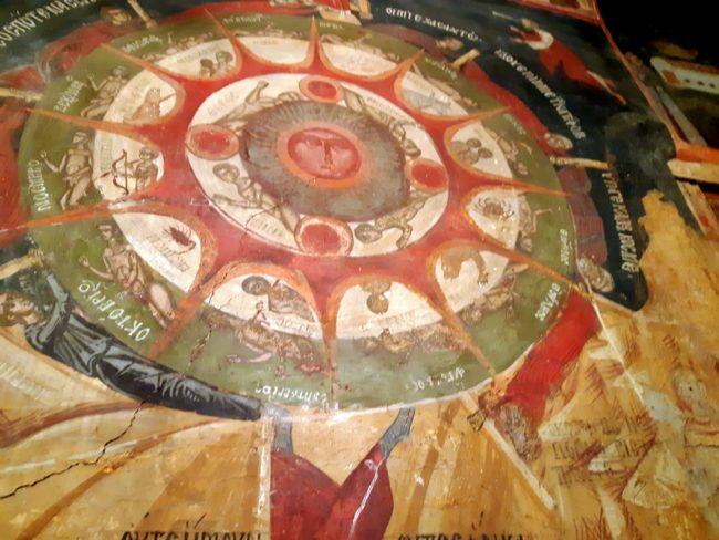 Uno de los murales más reconocidos de la Iglesia de la Natividad de Arbanasi
