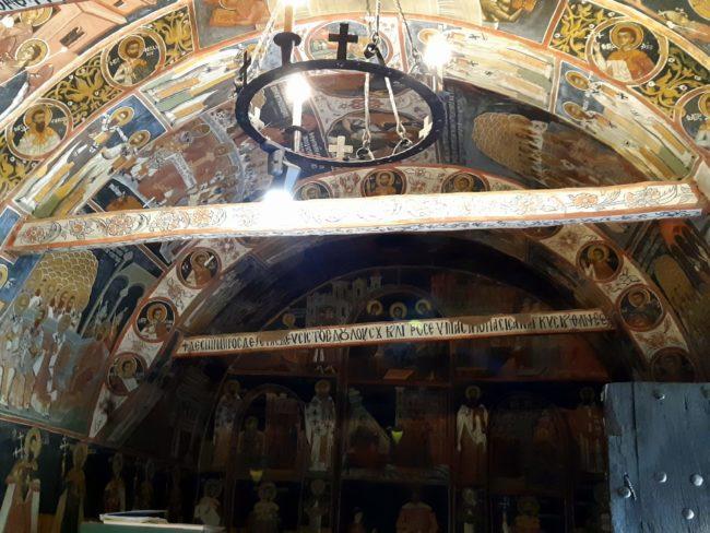 Murales del atrio en la Iglesia de la Natividad de Arbanasi