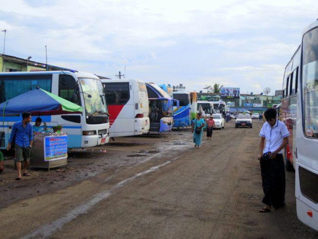 Transporte de pasajeros en Myanmar