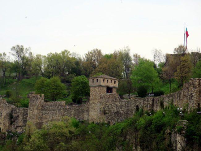 Murallas defensivas de la Fortaleza de Tsarevets en Veliko Tarnovo