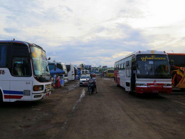 La mayor estación de autobuses de Myanmar