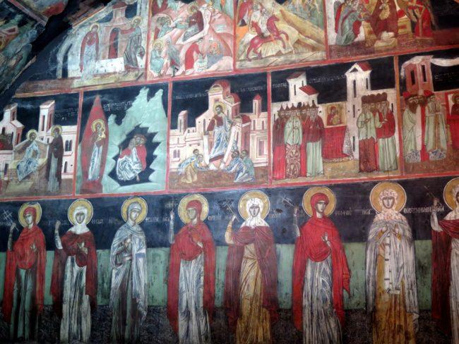 Análisis de las escenas reflejadas en los murales de la Iglesia de la Natividad de Arbanasi
