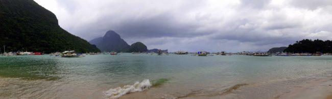 La playa en el pueblo de El Nido