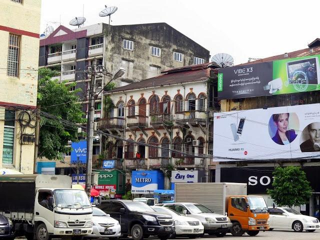Edificios de la capital de Myanmar