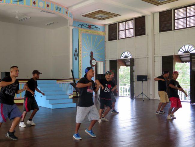 Exhibición de baile en la prisión de Iwahig