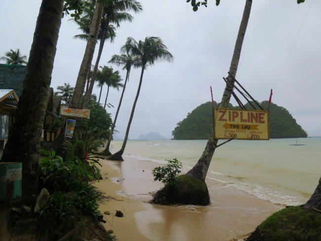 Temporal en la playa de Las Cabanas
