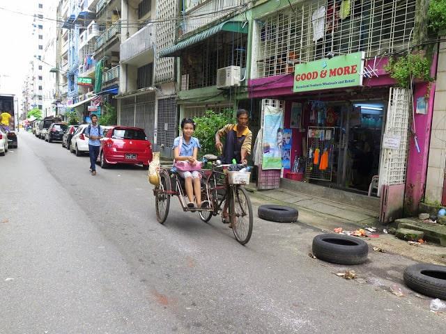 Las calles de la capital de Myanmar
