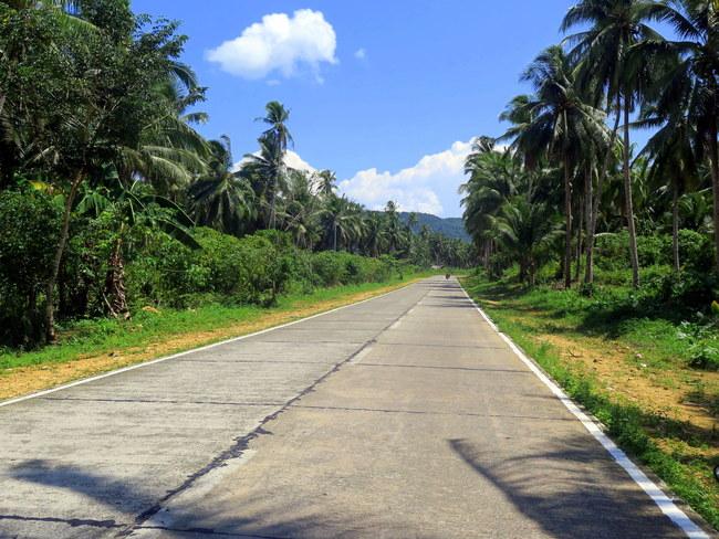 Las bellas carreteras de Siargao