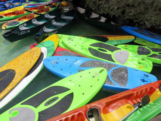 Alquiler de tablas y kayaks en Sugba Lagoon