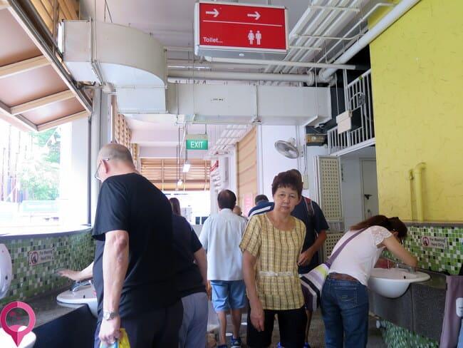 Limpieza de los baños públicos de Singapur