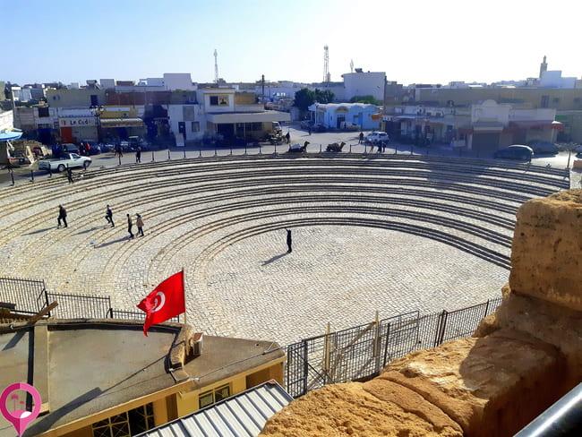 Ubicación de el anfiteatro romano en el Jem