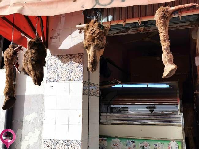 Casquería de camello en Túnez