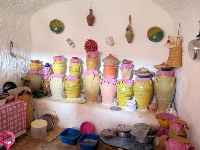Interior de las casas de Matmata