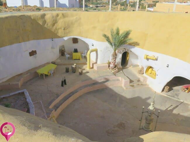 Arquitectura de las casas trogloditas de Matmata