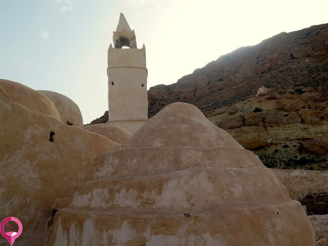 Las cúpulas de la mezquita subterránea de Chenini