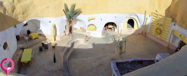 La maison où grandit Luke Skywalker, sur la planète Tatooine