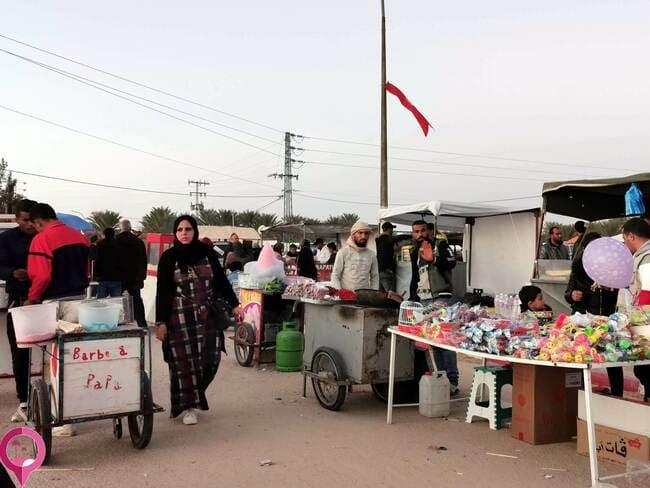 Puestecillos durante el Festival de Douz