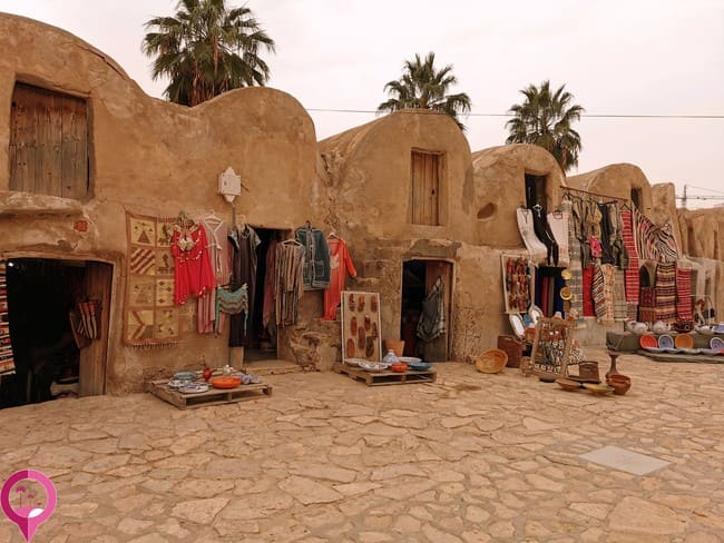 Arquitectura típica de los ksour en Túnez