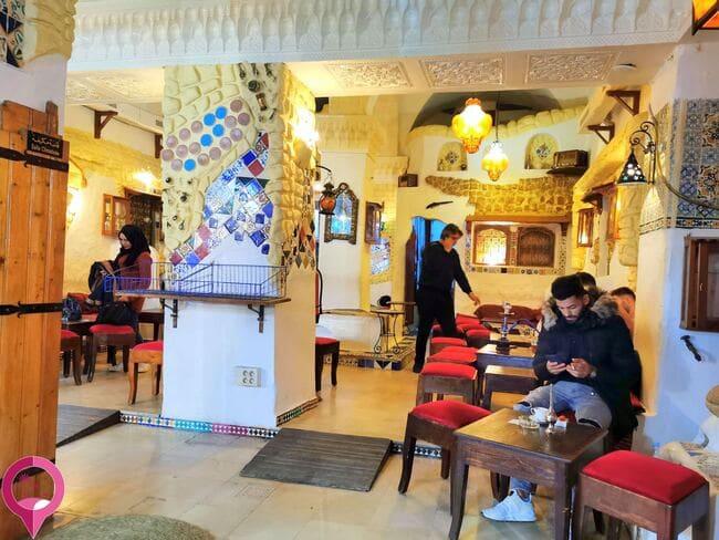 Cafetería en Túnez