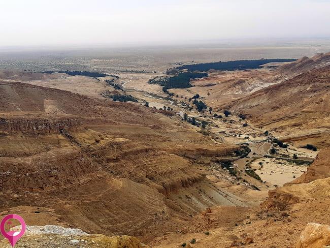 Desierto de montaña al sur de Túnez