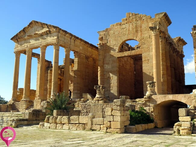 Templos de Juno y Júpiter en el Foro de Sbeitla