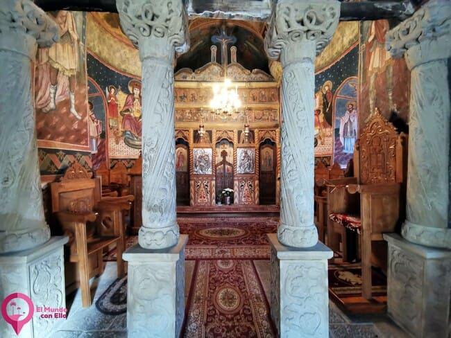 Principales construcciones del Monasterio de Sinaia