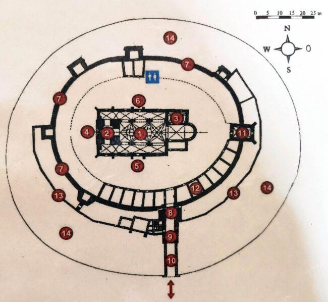 Plano de la Iglesia Fortificada de Harman