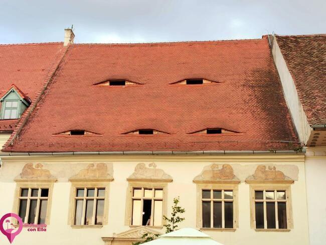 Típicos Tejados de Sibiu