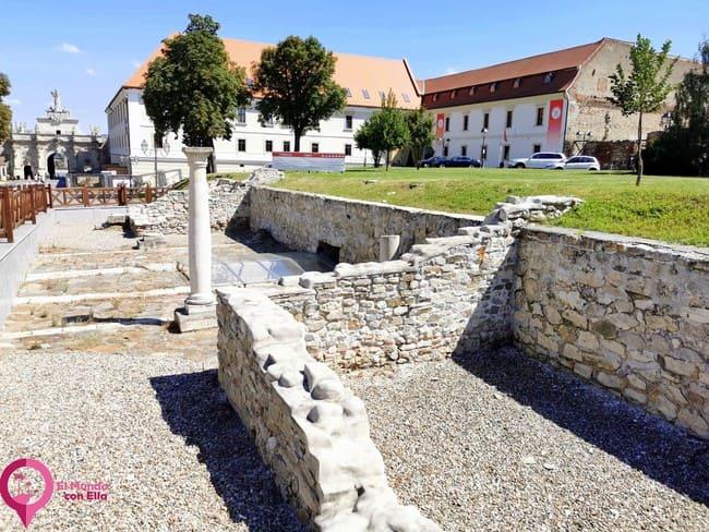 Ruinas romanas en Alba Iulia