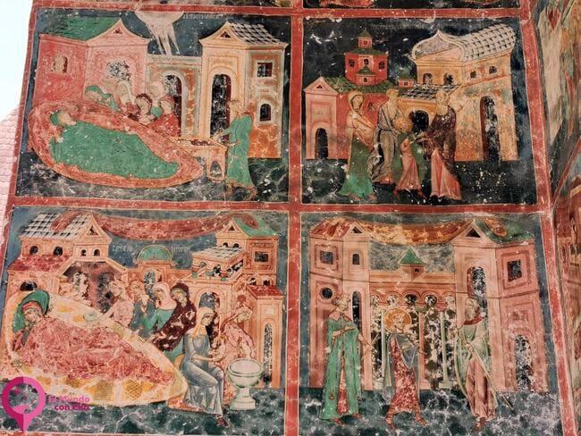 Frescos en la Iglesia de Arbore