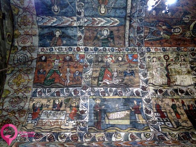 Iconografía interior de las Iglesias de Madera