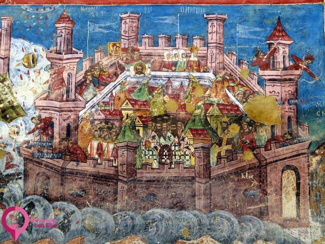 Frescos más representativos del Monasterio de Moldovita